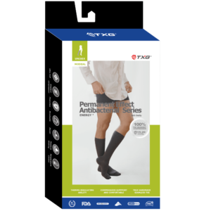 TXG Permanent Effect Antibacterial Socks Packaging