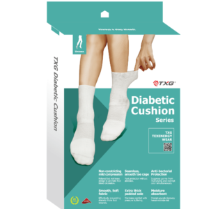 Diabetic Cushion Sock Box Packaging