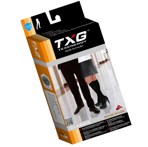 TXG Medical Compression Stockings Packaging
