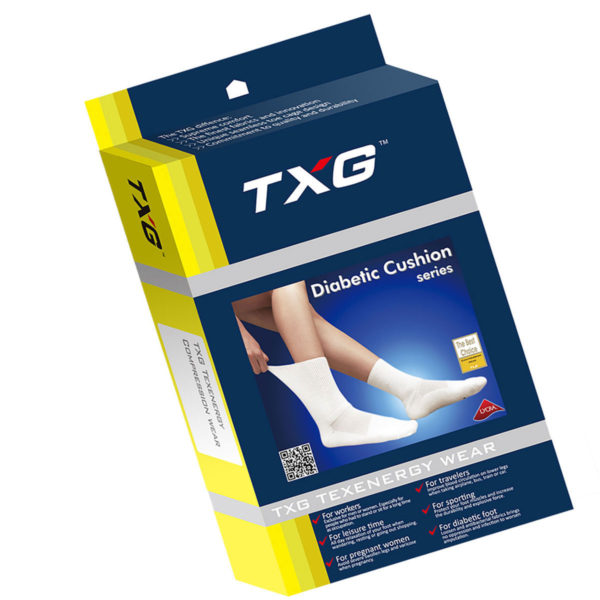 TXG Cushioned Socks for Diabetics Packaging