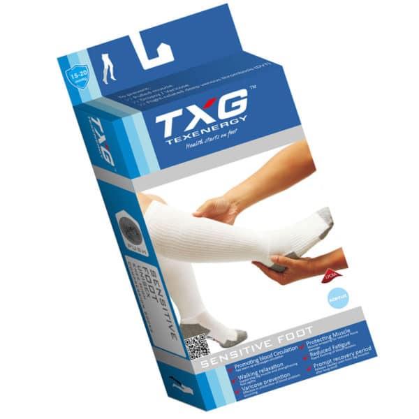 TXG Diabetic Circulation Socks Packaging