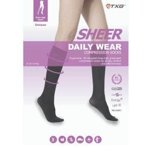 TXG Sheer Knee High Compression Stockings Product Brochure