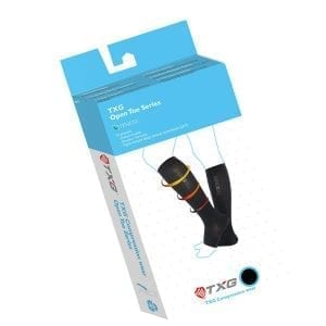 TXG Toeless Compression Socks Packaging