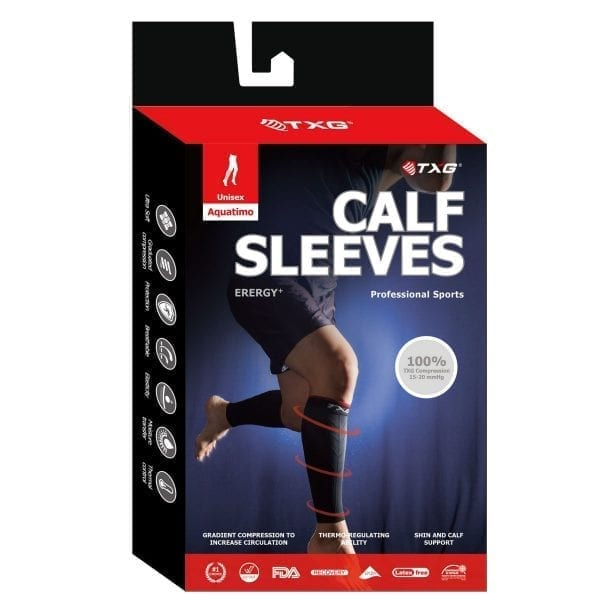TXG Calf Compression Sleeve Packaging