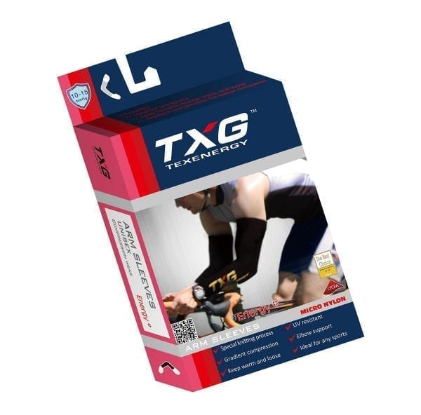 TXG Sports Compression Arm Sleeves Packaging