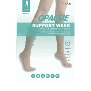 TXG Opaque Open Toe Compression Stockings